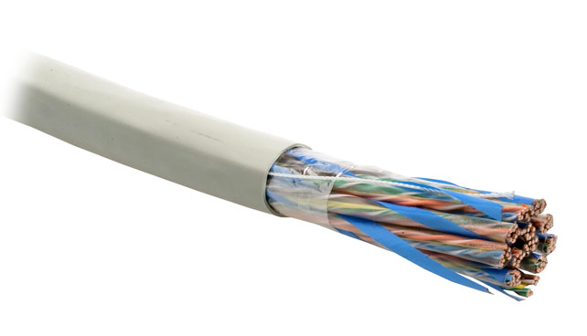 Кабель витая пара UTP (U/UTP), категория 5, 48 пар (24 AWG), одножильный (solid) Hyperline UTP48-C5-SOLID-INDOOR